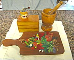 Vintage woodenware assortment for sale at More Than McCoy at http://www.morethanmccoy.com