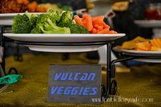 Star Trek: The Next Generation party food- Vulcan Veggies 30th Birthday, Birthday Ideas, Star Trek Party, Star Trek Wedding, Retirement Parties, Live Long, Housewife, Sci Fi, Veggies