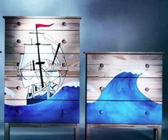 scene painted dressers