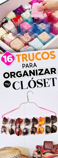 16 simple tricks to organize your closet, you& love it! - Tricks to organize your closet - Easy Diy Projects, Diy Crafts For Kids, Room Decor Bedroom, Diy Room Decor, Organizar Closets, Konmari, Organizing Your Home, Organising, Diy Candles