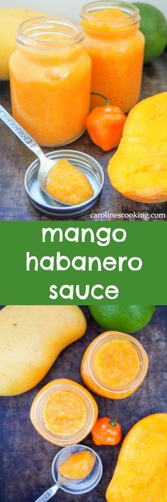 Mango habanero sauce gives a wonderful sweet-spicy kick to tacos and more. Really easy to make, and surprisingly healthy, it'll be a go-to hot sauce.