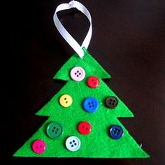 Fingerprint Christmas Ornaments | 30 Homemade Ornaments for the Kids - hands on : as we grow