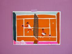 Léa Maupetit - Tennis court (risoprint)