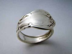 Demitasse Sterling Silver Spoon Ring - Chantilly. $59.00, via Etsy.