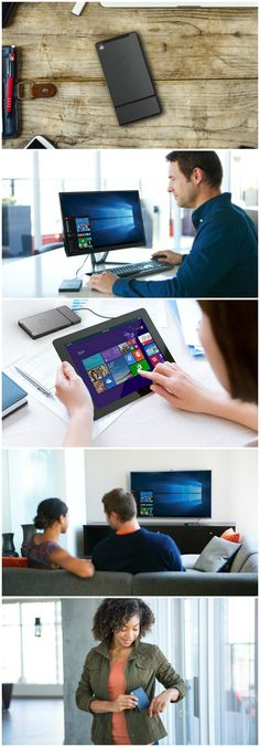 Kangaroo is the World's Smallest Personal, Powerful, Portable PC. It's the Mobile Desktop. Your Windows 10 computer anywhere on any screen. It's small enough to fit in your pocket.