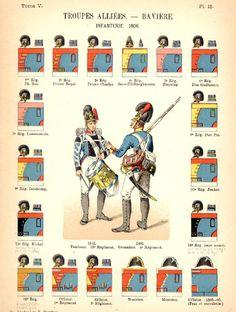 Bavarian Infantry 1806, by Humbert.