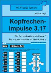 Kopfrechenimpulse 3.17 | Mathematisches Denktraining | Analoge Lerntrainings | Lerntrainings | Unterrichtsmaterialien, Arbeitsblätter & Übungsblätter | Mein-Unterrichtsmaterial.de