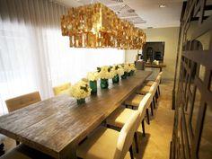 Eclectic | Dining Rooms | David Bromstad : Designer Portfolio : HGTV - Home & Garden Television Tan Dining Rooms, Turquoise Dining Room, Elegant Dining Room, Dining Room Table, Wood Table, Mediterranean Living Rooms, Chandelier Art, Chandeliers, Fashion Room