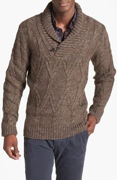 BOSS HUGO BOSS 'Murdo' Shawl Sweater available at #Nordstrom