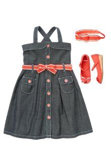 Chambray & Bows Outfit for Girls, perfect for #parties