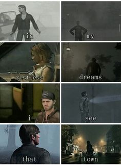 Silent Hill game (Harry-James-Heather-Henry-Travis-Alex-Murphy-???)