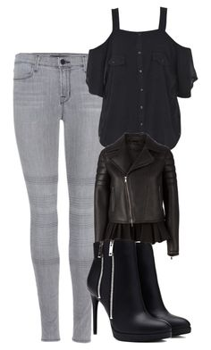 """""""Katherine Pierce Inspired Outfit"""" by mytvdstyle ❤ liked on Polyvore featuring J Brand, Boohoo, Neil Barrett, Forever 21, women's clothing, women's fashion, women, female, woman and misses"""