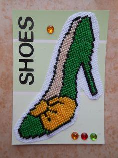 ATC CROSS STITCH CARD SHOE