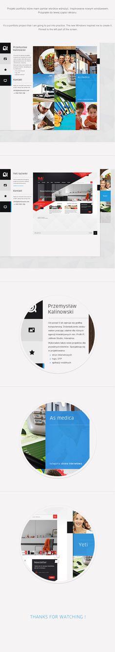 Personal portfolio 2012 by Przemek Kalinowski, via Behance