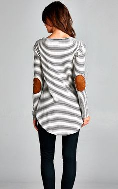 Stripes & Patches Tunic...wear everywhere **in stock**limited quantity