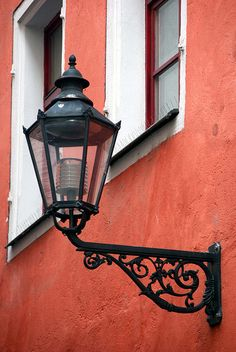 Street Lamp Between Windows by Bachspics, via Flickr