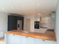 hand made kitchen with farrow and ball paint finish