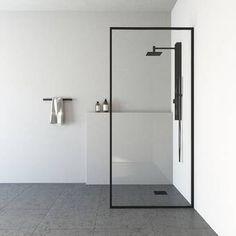 VIGO Meridian H x to W Framed Fixed Matte Black Shower Door at Lowe's. Frame your life the way you want it with the VIGO Meridian 34 in. x 74 in. Fixed Glass Shower Screen. This shower screen's matte black frame elegantly Bathroom Trends, Bathroom Interior, Modern Bathroom, Small Bathroom, Bathroom Tubs, Bathroom Ideas, Bathroom Organization, Bathroom Cabinets, Bathroom Inspiration