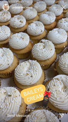 Baileys, Cupcakes, Sweets, Cream, Desserts, Food, Creme Caramel, Tailgate Desserts, Cupcake Cakes