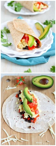 Healthy Breakfast Burrito with Avocado & Chipotle Yogurt...285 calories and 8 Weight Watchers PP | cookincanuck.com
