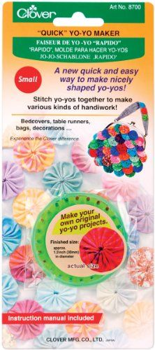 #PopularKidsToys Just Added In New Toys In Store!Read The Full Description & Reviews Here - Clover Small Quick Yo-Yo Maker - clover quick yo yo maker small green. a quick and easy way to make nicely shaped yo yos in minutes these yo yo templates are your perfect tool for embellishing paper craft projects home decor and ready to wear garments. easy step by step instructions are included. finished size approximately 1 1 4in. imported. 1 set per pack Quick Yo -Yo maker Small Qui