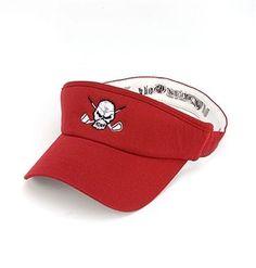 Tattoo Golf Red Flexfit Skull Golf Visor