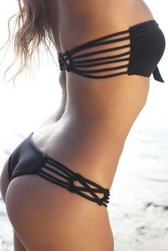 little black bikini. so cute!