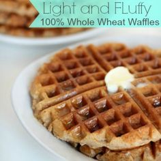 Homemade Whole Wheat Waffles ~ http://reallifedinner.com
