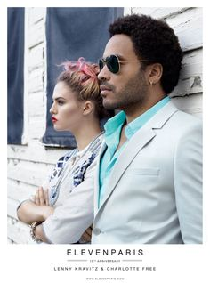 Charlotte Free and Lenny Kravitz Front Eleven Paris Spring 2013 Campaign