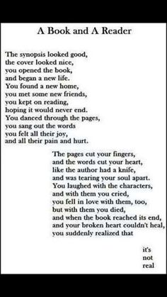 I feel like crying after reading this, but it is the sad truth of life. I feel like crying after reading this, but it is the sad truth of life. I Love Books, Good Books, Books To Read, My Books, Book Of Life, The Book, Feel Like Crying, Reading Quotes, Book Memes