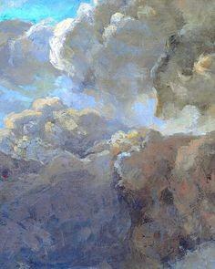 Waves (detail of the clouds), by Gustave Coubert