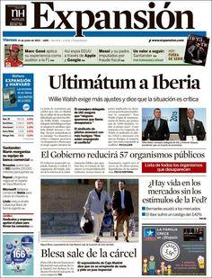 Los Titulares y Portadas de Noticias Destacadas Españolas del 21 de Junio de 2013 del Diario Expansión ¿Que le parecio esta Portada de este Diario Español?