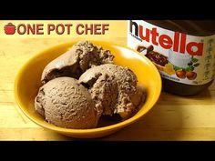 Super Simple Nutella Ice Cream | One Pot Chef - YouTube