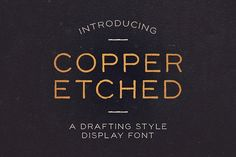 Copper Etched Display Font  @creativework247
