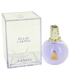 Eclat D'arpege Perfume By LANVIN FOR WOMEN 3.4 oz Eau De Parfum Spray Eclat D'arpege Perfume by Lanvin, A soft floral fragrance, eclat d'arpege by the design house of lanvin was created in 2003 . A sophisticated fruity scent is a blend of sicilian lemon leaves, lilac green, wisteria flowers, green tea flowers, peach flowers, red peony,white cedar of lebanon, musk, and amber.