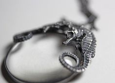 ariel. conjoined seahorse spyglass necklace. by BloodMilk on Etsy, $190.00