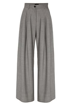 Nili Lotan's designs reflect the modern, urban woman. This 'Inez' high-rise pant is spun from warm wool and cut in a wide leg silhouette with elongating front pleats. Wear yours with a knit sweater for a cozy, chic look. Outfits For Teens, Casual Outfits, Cute Outfits, Kpop Fashion Outfits, Womens Fashion, Wool Pants, Aesthetic Clothes, Diy Clothes, Ideias Fashion