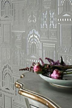 Sophie Conran Wallpaper | Opening Doors Ash | Arthouse Wallpaper