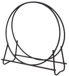 Uniflame® Black Metal Tubular Fire Wood Holder Log Rack