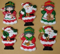 Manualidades Bonoritas Bordados Tejidos Macrame Felt Christmas Ornaments, Christmas Wood, Handmade Christmas, Christmas Stockings, Christmas Crafts, Felt Decorations, Christmas Decorations To Make, Christmas Themes, Christmas Holidays