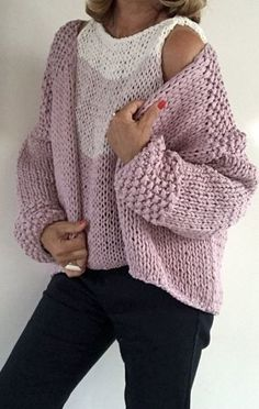 I have a clogged drain. I was going use a wire hanger.old school. Hand Knitted Sweaters, Sweater Knitting Patterns, Cardigan Pattern, Crochet Cardigan, Knit Patterns, Free Knitting, Knit Crochet, Loose Knit Sweaters, Knitwear Fashion