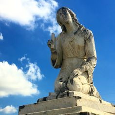 Concrete angel -St Louis cemetery New Orleans