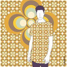 Vintage Pattern Design for T by ©VanBor.nl