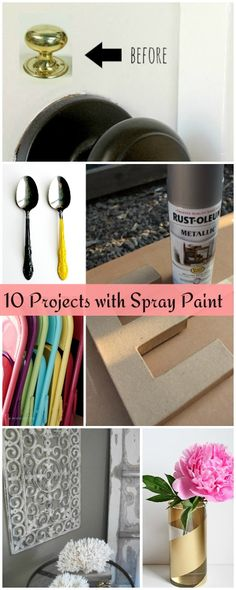 10 Projects with Spray Paint • 10 Tutorials!
