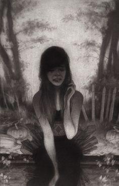 Melancholic illustrations by Sam Wolfe Connelly - Bleaq She Left Me, Crying Girl, Spoke Art, Simpsons Art, Portfolio, Dark Art, Art Blog, Painting Inspiration, Illustrations Posters