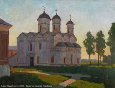 http://www.russianfineart.com/catalog/prod?productid=26375 Summer Evening The Rizopolozhensky Cathedral oil canvas  Russian Artist Savelenko Alexander