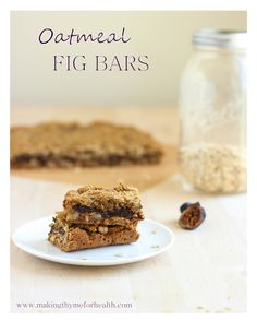 Oatmeal Fig Bars: a clean eating alternative to Fig Newtons! #vegan #glutenfree #refinedsugarfree | Making Thyme for Health
