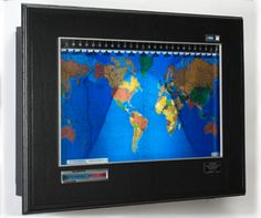 Geochron world time clock.  It visually shows what time it is everywhere in the world and also shows the change in the length of days during the year