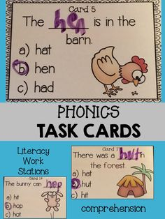 Practice reading cvc words! Great for a warm-up during guided reading or during a literacy work station.