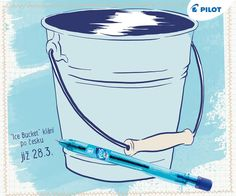 """Velikonoční pondělí je vlastně takové """"Ice Bucket"""" klání počesku! :) #happywriting Pilot, Bucket, Ice, Pilots, Ice Cream, Buckets, Aquarius"""